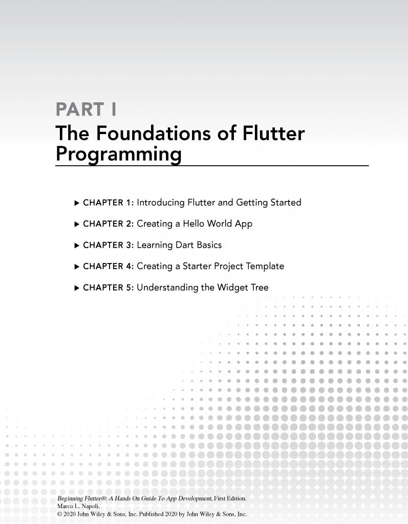 کتاب Beginning Flutter بخش اول