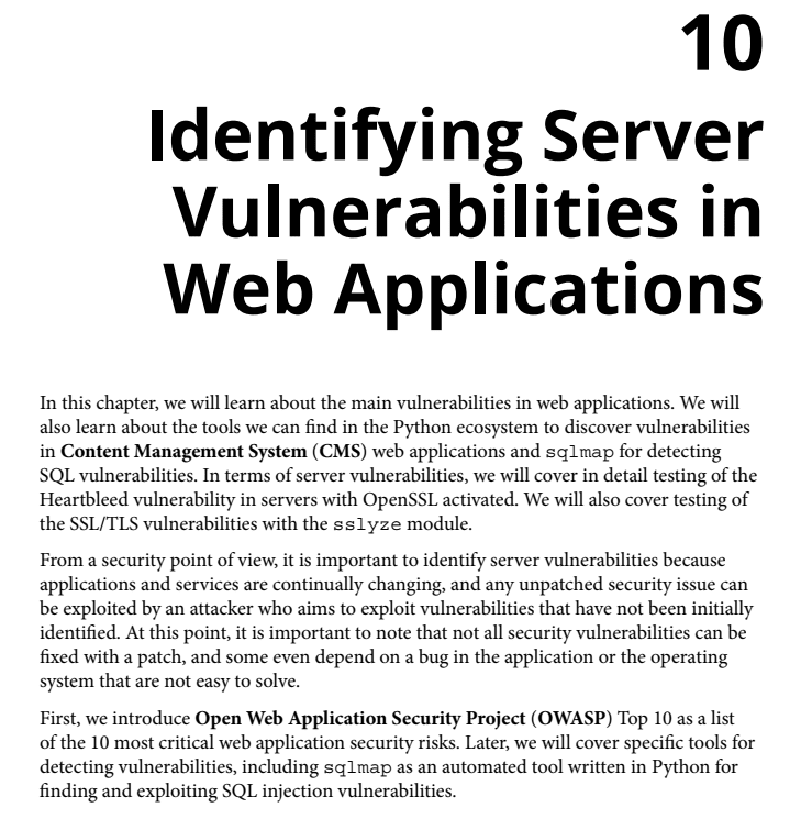 فصل 10 کتاب Mastering Python for Networking and Security
