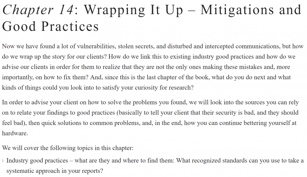 فصل 14، کتاب Practical Hardware Pentesting