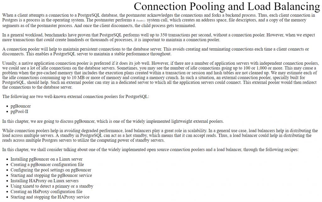 فصل 6 کتاب PostgreSQL 13 Cookbook