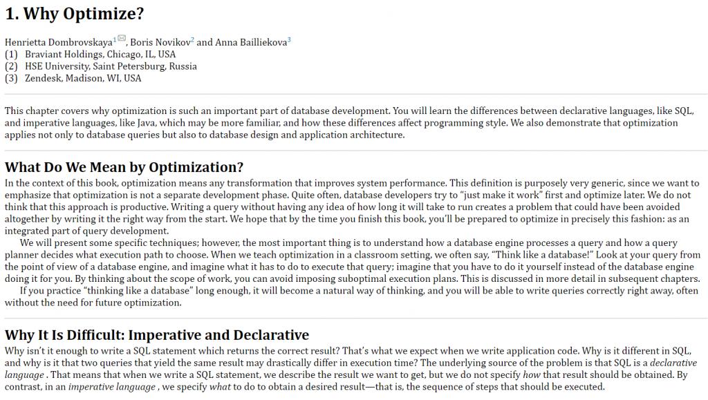 فصل 1 کتاب PostgreSQL Query Optimization