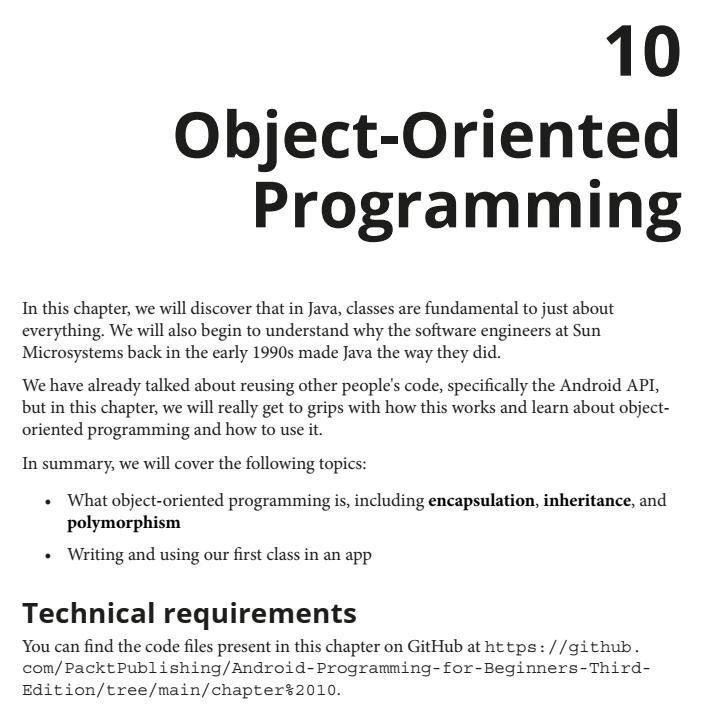 فصل 10 کتاب Android Programming for Beginners