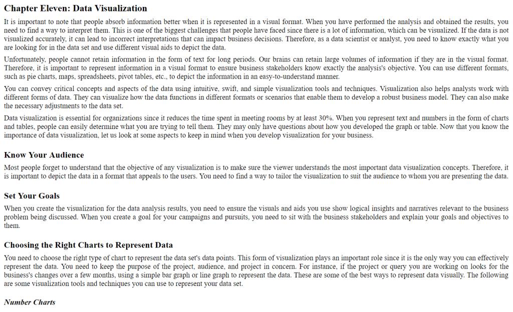فصل یازدهم کتاب Data Visualization Guide