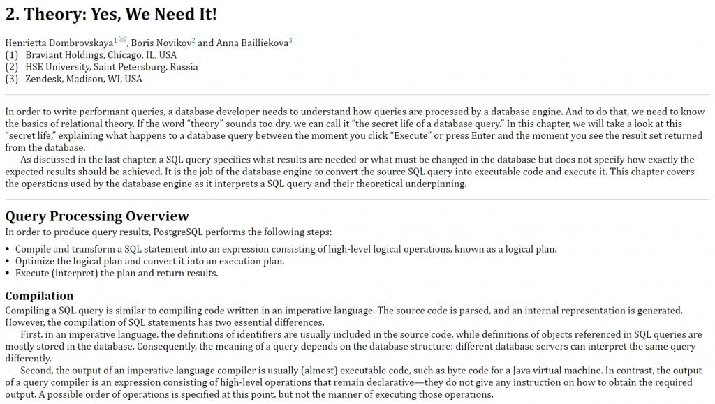 فصل 2 کتاب PostgreSQL Query Optimization