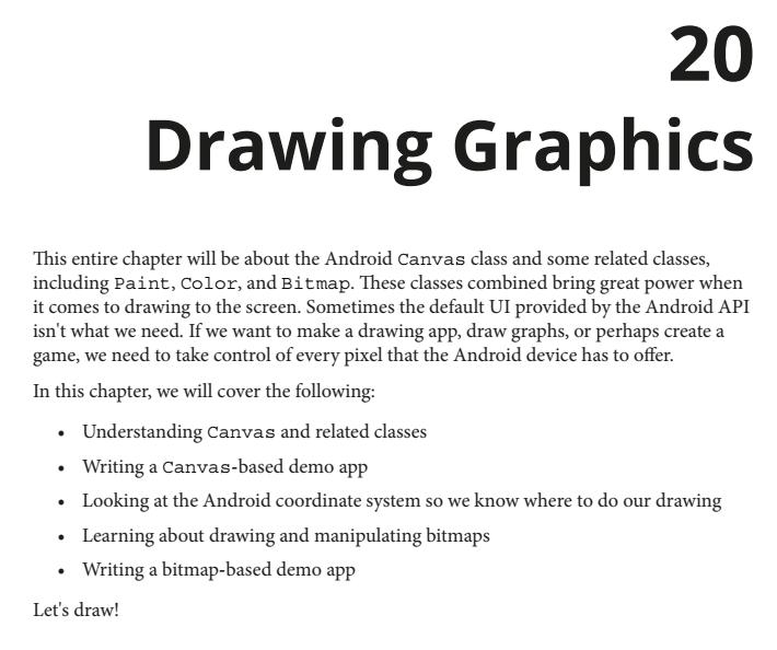 فصل 20 کتاب Android Programming for Beginners