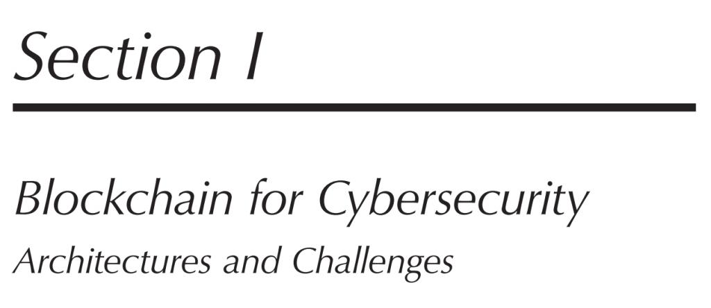 بخش 1 کتاب Blockchain Cybersecurity and Privacy