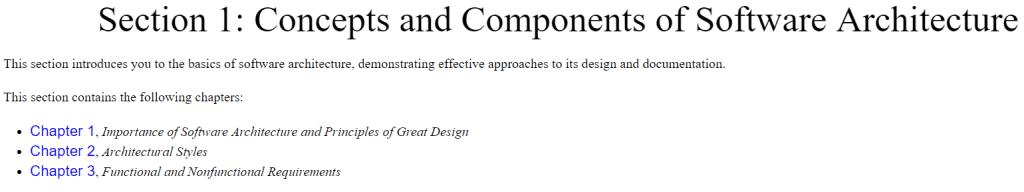 بخش اول کتاب Software Architecture with C++