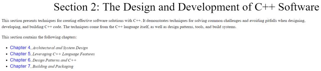 بخش دوم کتاب Software Architecture with C++