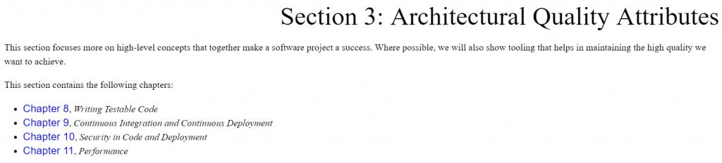 بخش سوم کتاب Software Architecture with C++