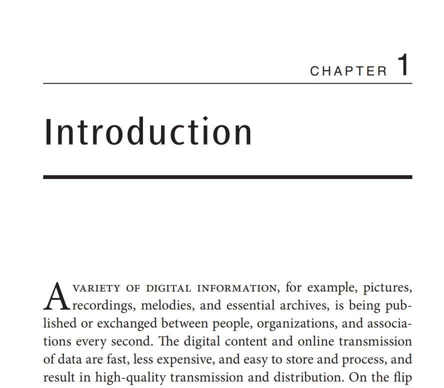 فصل 1 کتاب Digital Image Watermarking