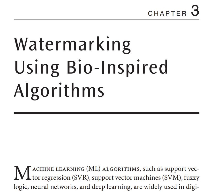 فصل 3 کتاب Digital Image Watermarking
