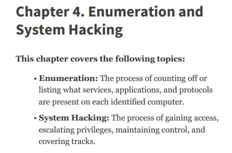 فصل 4 کتاب CEH Certified Ethical Hacker Version 10