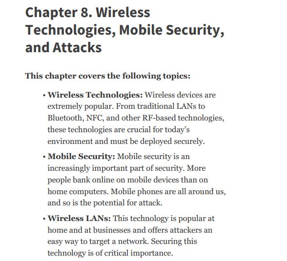 فصل 8 کتاب CEH Certified Ethical Hacker Version 10