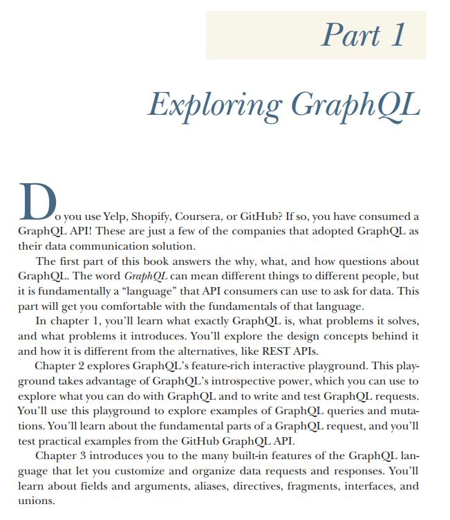 قسمت 1 کتاب GraphQL in Action